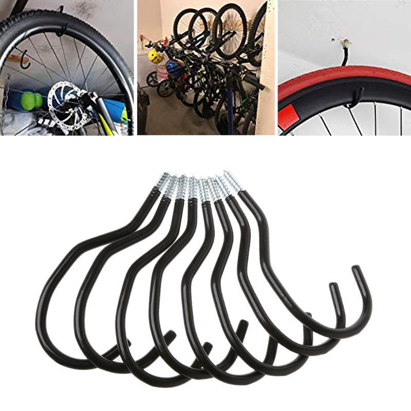 8 шт. стойка для хранения велосипедов настенная вешалка для велосипеда крючок настенная подставка для велосипеда держатель
