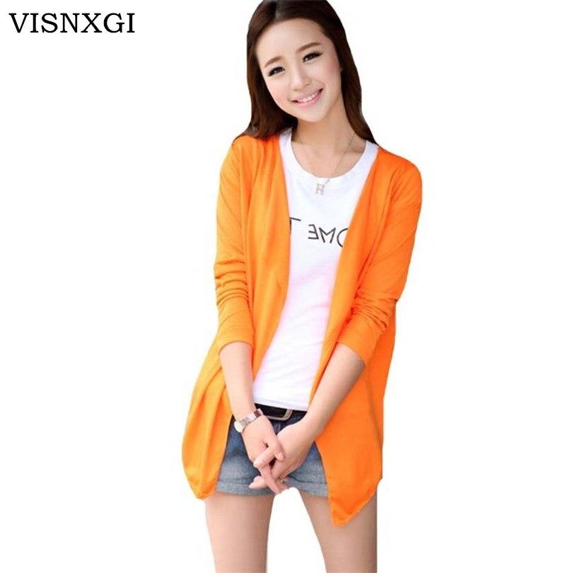 Женский вязаный кардиган VISNXGI, однотонный кардиган с v-образным вырезом и длинным рукавом, вязаный свитер на осень и зиму