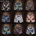 Men's Beach Shorts new fashion Linen Leisure shorts Loose Straight Comfortable Bermuda Men summer shorts Brand Large size M-5XL