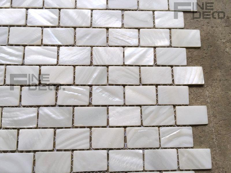 Pure white kleur natuurlijke zoetwater shell mozaïek tegel