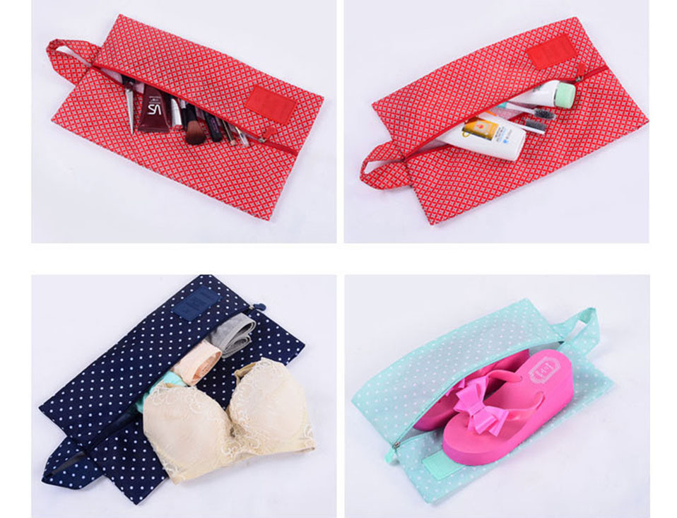 Travel Storage Bag Nylon Waterproof Portable Storage Shoe Bag Multifunctional Travel Bag Storage Case Organizer Home Storage     (6)