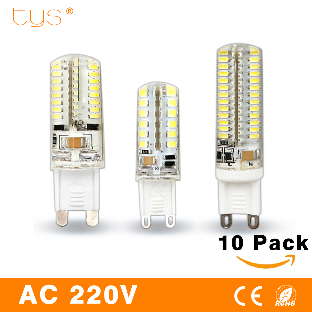 10pcs/lot Lampada G9 LED Lamp 220V 3W 2W 3014 SMD 2835 360 Beam Angle Luz Bombillas Lampadas de LED G9 Led Light Bulb Lamps