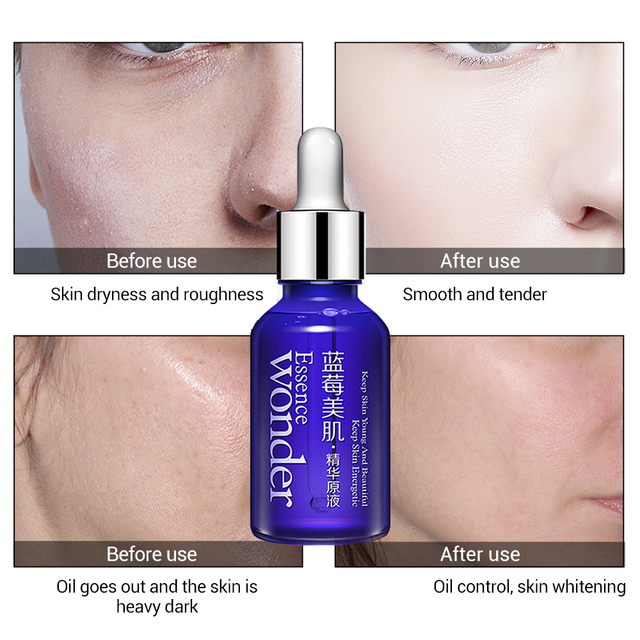 BIOAQUA Blueberry Hyaluronic Serum Acid Liquid Skin Care Anti Wrinkle Collagen Essence Face Care Whitening Moisturizing Oil 1