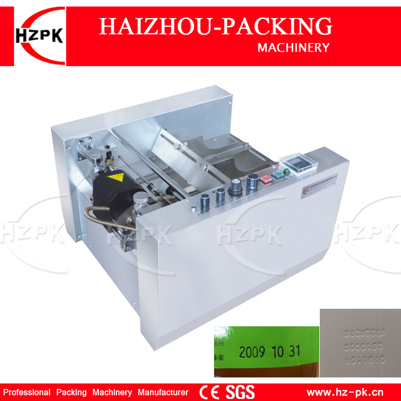 HZPK Automatic Steel Seal Produce Expiry Date Impress Printer Ink Printing Machine Box And Paper Printer For Medicine box MY-300