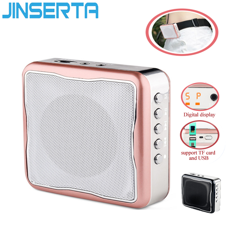 JINSERTA Mini Bee Megaphone Speakers Portable  Speaker Support TF Card and U Disk for Teacher Tour Guide