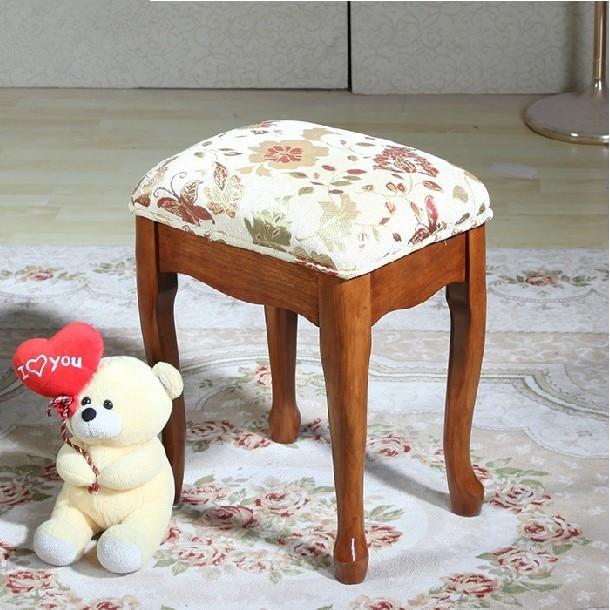 tela de estilo europeo banco silla de madera tocador de