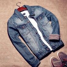 2017 New Fashion Denim Jacket Men Retro Cotton Denim Jackets Man Plus Size Casual Jean Jacket Coat Brand Clothing  XXL XXXL A032