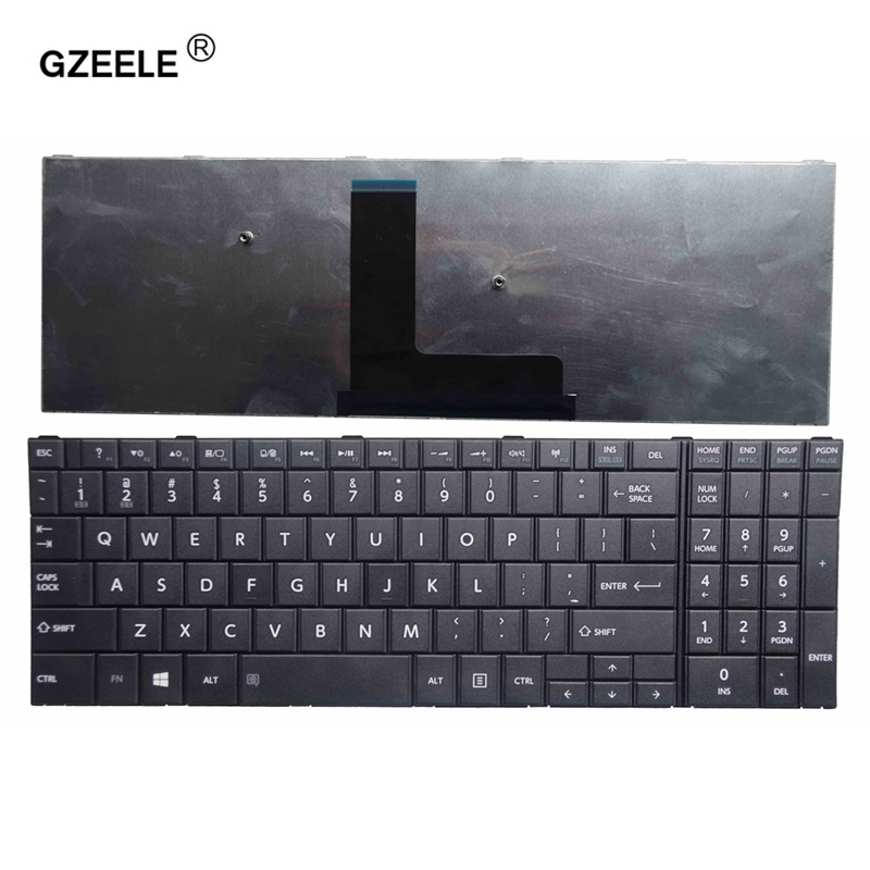 GZEELE US Keyboard For TOSHIBA Satellite C50-B C50D-B C55-B C55D-B C50A-B BLACK Win8 PN: 9Z.NBDSC.001 VA0SC New Laptop English