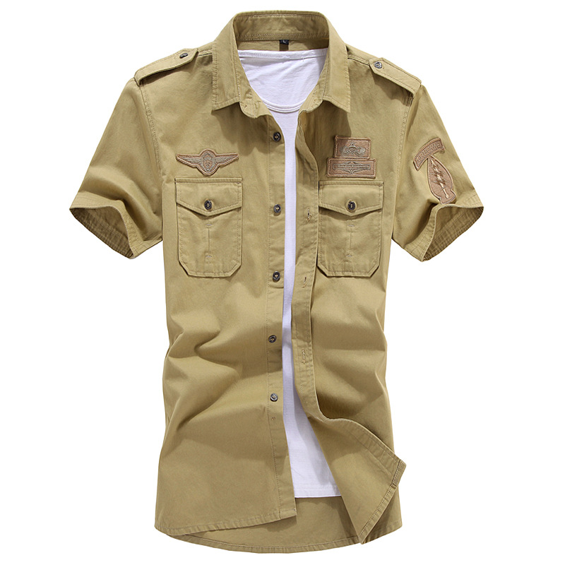 New Fashion Men Short Sleeve Shirt Slim Fit High Quality Cotton Dress Shirts 3 Colors M-6XL AYG57