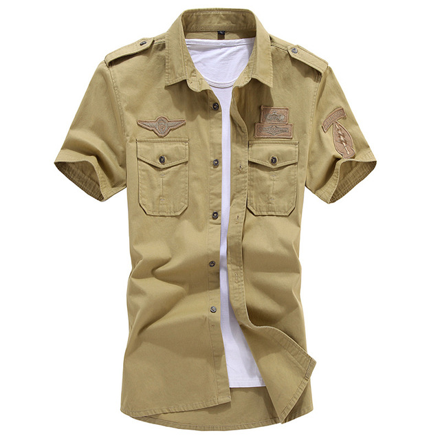 New fashion men short sleeve shirt slim fit high quality cotton dress shirts 3 colors M-6XL AYG57