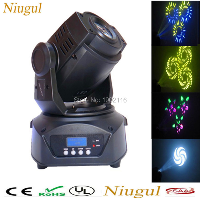 2PCS 90W LED Moving Head Spot Stage Lighting 3 Face Prism With LCD Display LED Patterns lights 90W LED DJ Spot Light DISCO BAR 4pcs lot 30w led gobo moving head light led spot light ktv disco dj lighting dmx512 stage effect lights 30w led patterns lamp