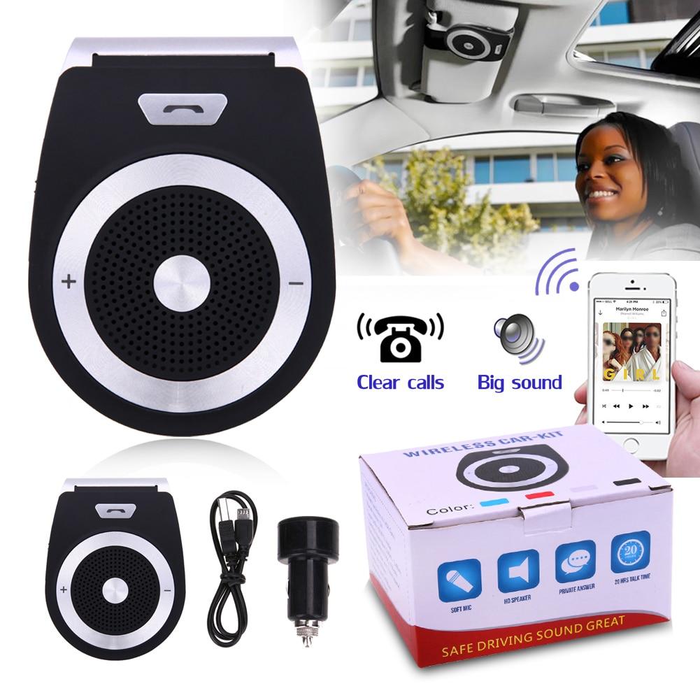 VODOOL Wireless Bluetooth 4.2 Auto Car Handsfree Kit Phone Audio Receiver Call Car MP3 Speaker Car AUX Audio System Car Styling
