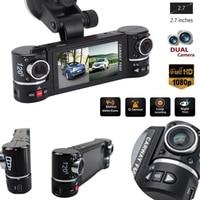 2.7 F600 1080P Car DVR Camera Car DVR GPS Dual Camera HD 1080P Night Vision Dual Lens DVR Recorder Dash Cam Video Recorder IR