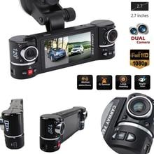 """2.7 """"F600 1080 P Dell'automobile DVR Della Macchina Fotografica Dell'automobile DVR GPS Doppia Fotocamera HD 1080 P di Visione Notturna Doppia Lente DVR Registratore Dash Cam Video Recorder IR"""