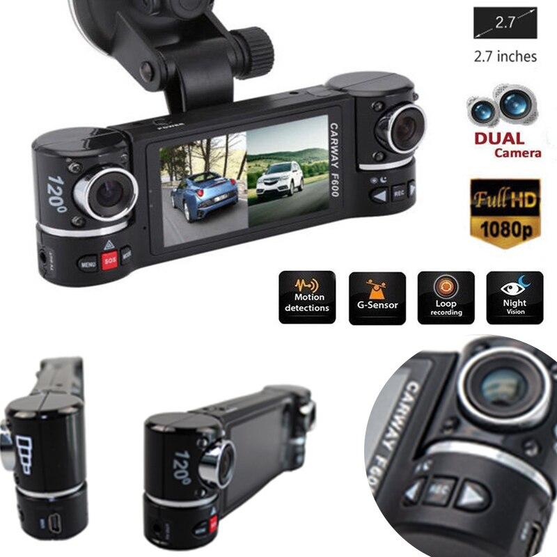 """2.7"""" F600 1080P Car DVR Camera Car DVR GPS Dual Camera HD 1080P Night Vision Dual Lens DVR Recorder Dash Cam Video Recorder IR"""