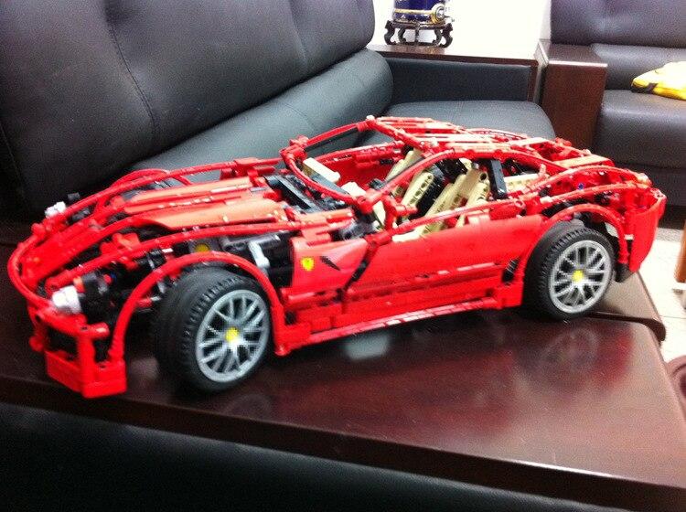 DECOOL 3333 1322 sztuk 1:10 super samochód F1 wyścigi model bloki cegły budowlane zestaw zabawek dla dzieci prezenty technic 8145 Ferrari w Klocki od Zabawki i hobby na  Grupa 3