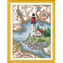 The Lighthouse (5) Counted Cross Stitch 11CT 14CT landscape Kits for Embroidery Home Decor Needlework