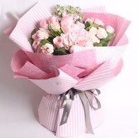 4,5 Mt DIY leinen geschenk verpackung rolle Tuch blumen bouquet Geschenkpapier hochzeit geschenke paket tuch papier 3