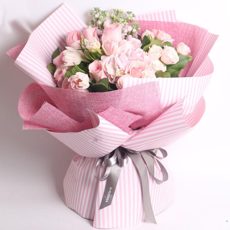 4.5M DIY linen gift packaging roll Cloth flowers bouquet ...