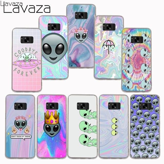 5affa1e560b Lavaza Funny Alien Drawings of Aliens Hard Case for Samsung Galaxy S9 S8  Plus S7 S6 edge S3 S4 S5 Grand Prime