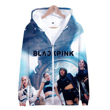 KPOP BLACKPINK 3D Print Zip Up Hoodie Korean BLACK PINK KILL THIS LOVE Album Men/Women Hip Hop Zipper Hooded Sweatshirt Outwear(China)