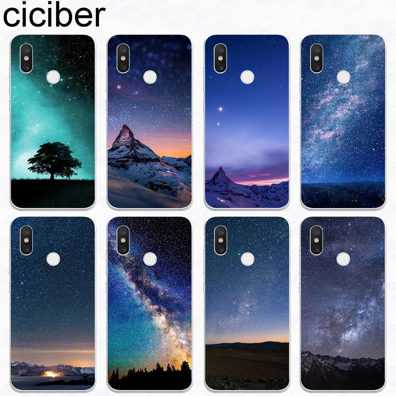 ciciber Northern Lights For Xiaomi A2 A1 8 6 5 X 5C 5S Plus Lite SE Poco Phone F1 Soft TPU Cases For Xiaomi MIX MAX 3 2 1 S Pro