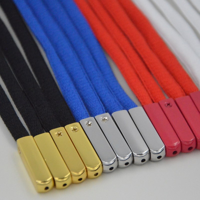 4pcs/set Metal Aglets Screw DIY Shoelaces Replacement Head Repair Shoe Lace Tips Shoelace Screws Ornament Size 2.5cm*0.65cm
