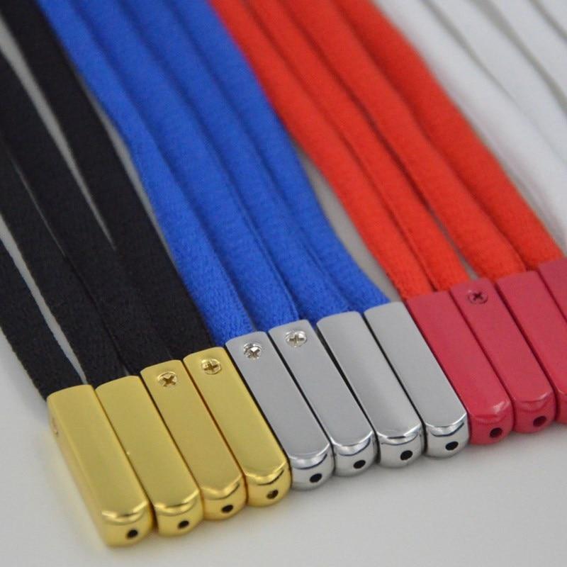4pcs/set Metal Aglets Screw DIY Shoelaces Replacement Head Repair Shoe Lace Tips Shoelace Screws Ornament Size 2.5cm*0.65cm