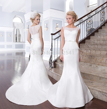 Detachable Lace Wedding Dresses Mermaid Trumpet Sweetheart Applique Peplum Sweep Train Bridal Gowns yk1A269