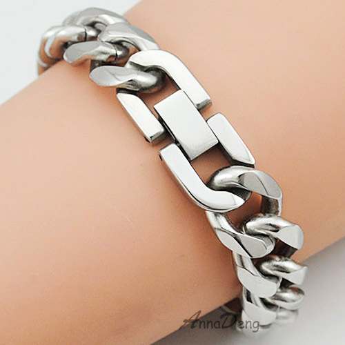 CHIMDOU 21cm 13mm Cool Fashion High Quality Stainless Steel Pop <font><b>Punk</b></font> <font><b>Rock</b></font> Style Round Chain Link Bracelet Men Jewelry AB713