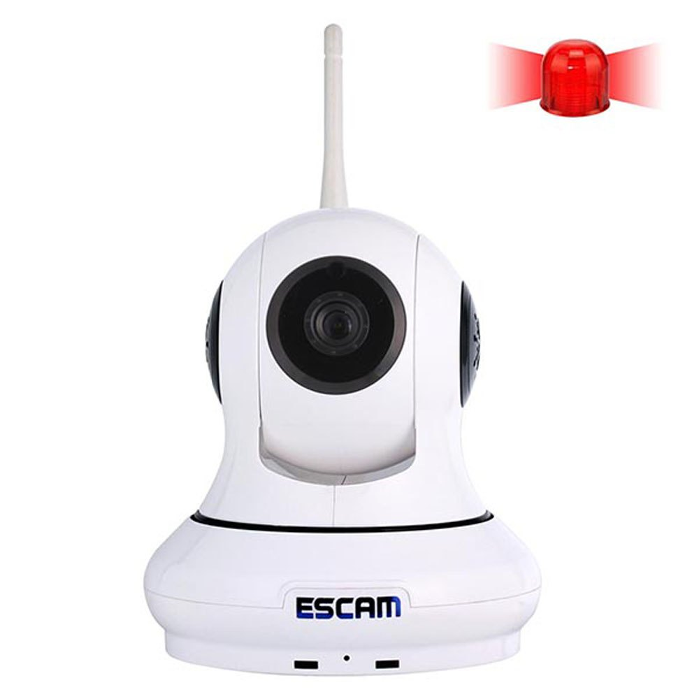ESCAM QF500 HD 720P Wifi IP Camera IR 30m Range Remote Control Pan / Tilt Alarm IP Camera Wi-fi Home Security Camera for Indoor escam qf550 super egg wifi 1 0mp alarm ip camera anti fire anti gas 720p