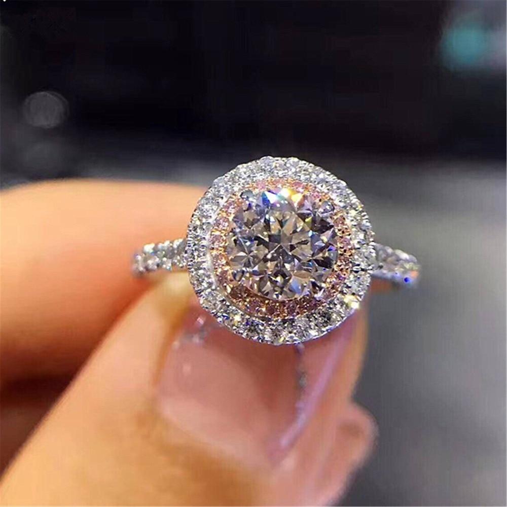 Aliexpress.com : Buy Round Pink Stone Bridal Wedding ...