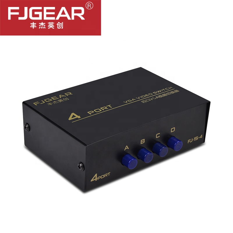 KVM Switch 4 Port VGA SVGA Video HD Signal Amplifier Booster Splitter High Quality For Monitors Projectors