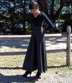 Gris de invierno de Lana Faldas Maxi Largo de Lana Otoño Falda Del Partido Personalizado Más El Tamaño 6XL 7XL Grande Dobladillo de Las Mujeres Faldas