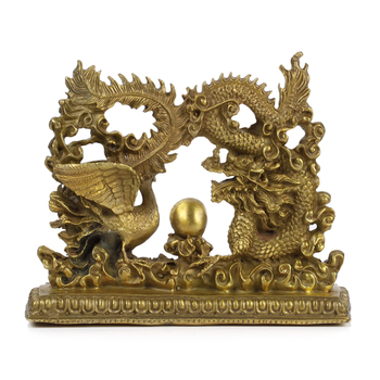 A copper dragon ornaments lucky draw Home Furnishing Feng Shui lucky talisman accessories