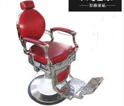 New European retro men's hairdressing chair barber shop lift can drop oil head salon hair chair