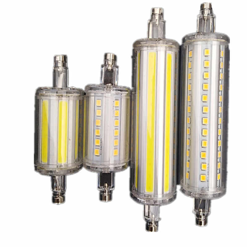 סופר מואר r7s 30W 78mm 6000lm led אור נורות j118 R7S led cob 50W 118mm 10000lm מנורת הנורה AC220-240V להחליף מנורת הלוגן