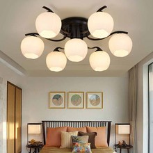 Modern Glass Ceiling Lamps LED Lamps Living Room Dining Room Ceiling light led lustre light ceiling lights For Kitchen Island 2018 ins new led animal shape snail ceiling lamps kid children living room decoration led lamp ceiling design ceiling lamps