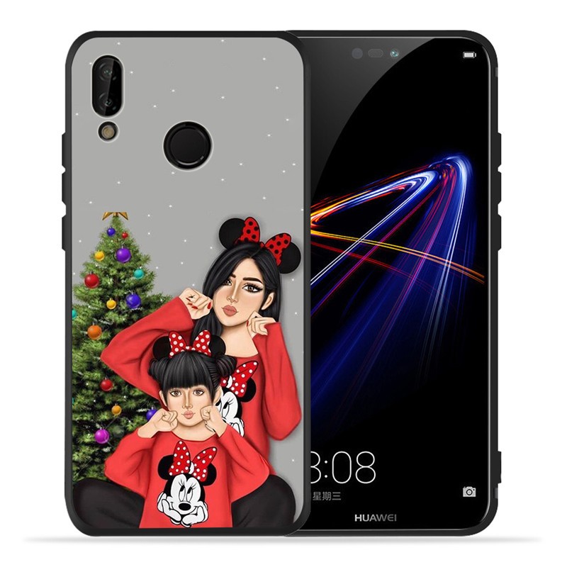 Image 5 - Luxury Baby Mom Queen For Huawei P8 P10 P20 P30 Mate 10 20 V20 Honor 8 8X 8C 9 10 Lite Plus Pro Case Cover Coque Etui Funda Cute-in Half-wrapped Cases from Cellphones & Telecommunications