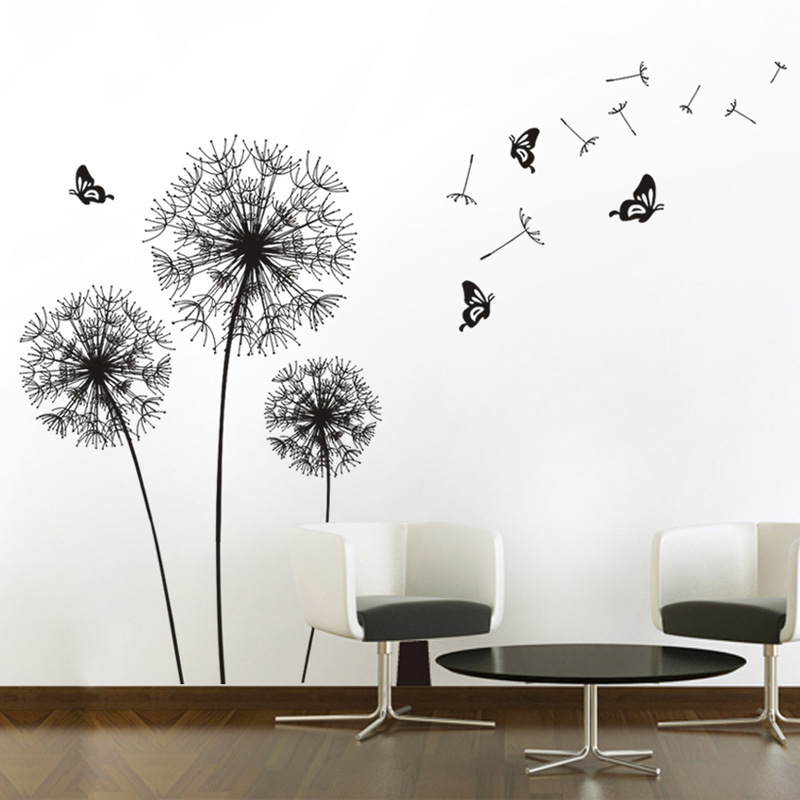 Buy black pegatinas de pared vinilos for Stickers decorativos de pared