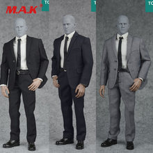 630b17e58 3 colores 1 6 báscula negro azul marino gris conjunto de trajes formales  para hombre y zapatos para 12 pulgadas hombre figura de.