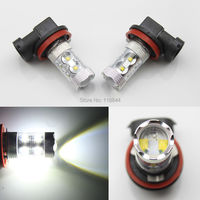2Pcs New 50W Xenon Kit HB4 9006 LED CREE High Power Fog Light Driving Headlight DRL Bulb White 6000K DC 12V Free Shipping