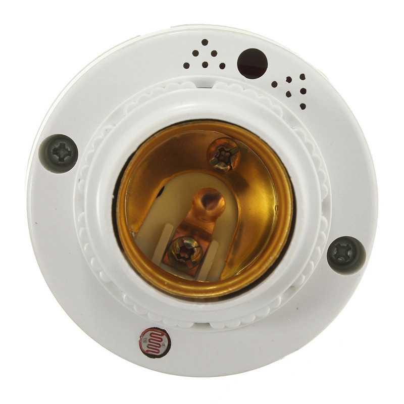 AC220V LED Light E27 Bulb Base Sensor Delay Switch Lamp Sound Voice Control Holder Adapter Socket Lighting Accessories