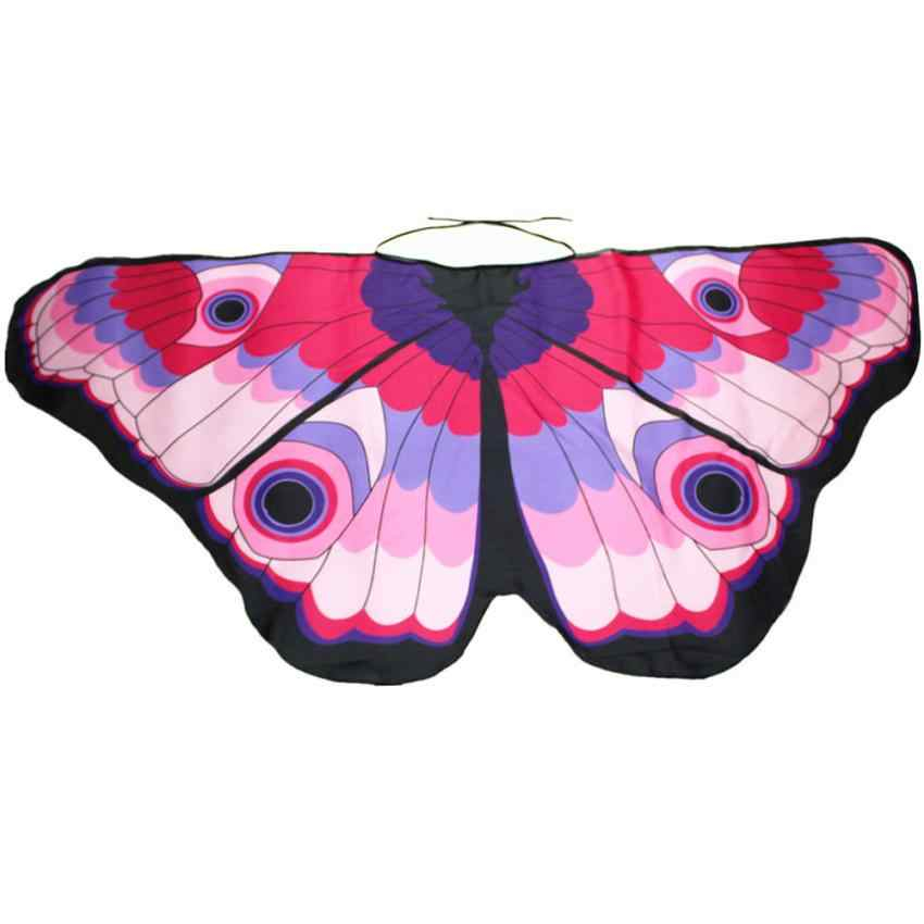 aafd5ea4724 Children Boys Novelty Ponchos And Cape Chiffon Tippet Butterfly Wings Scarf  Shawl Wrap for Girls Pashmina