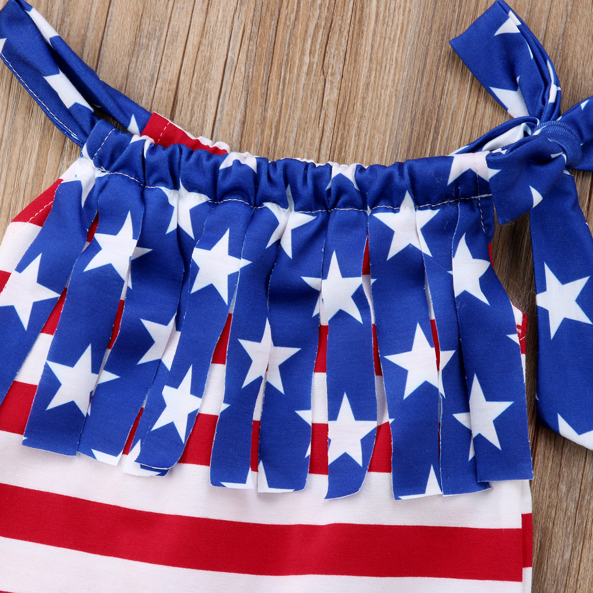 011fd9439036 Baby Boy Girl Flag Stars Stripes Jumpsuit Romper Ruffle Tassel Playsuit 4th  of July Clothes Outfit-in Rompers from Mother   Kids on Aliexpress.com