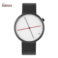Enmex Creative Style Cool Wristwatch Two Balance Hands With Fine Scale Stainless Steel Strap Fashion