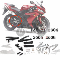 Front Motorcycle Footrests Bracket Foot Pegs For YAMAHA YZFR1 YZF R1 YZF R1 2004 2005 2006