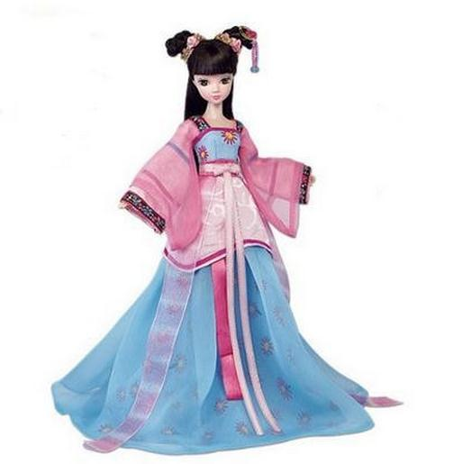 Free shipping 29CM Kurhn Dolls For Girl Chinese Traditional Doll Toys For Children's Birthday Gift Kid's Toys #9093