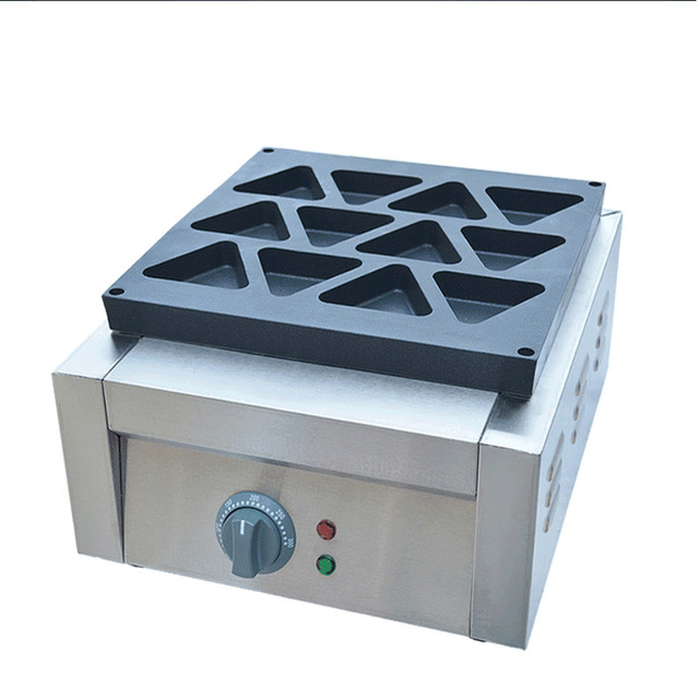 220V/2500W Commercial Non-Stick Triangle Waffle Machine 12pcs Triangle Bread Maker Bread Baker Free Shipping