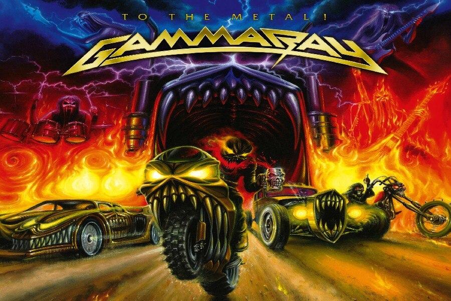 DIY frame GAMMA RAY metal heavy album art cover dark cloth ...